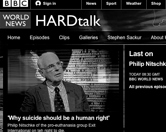 Philip Nitschke interview BBC HARDtalk