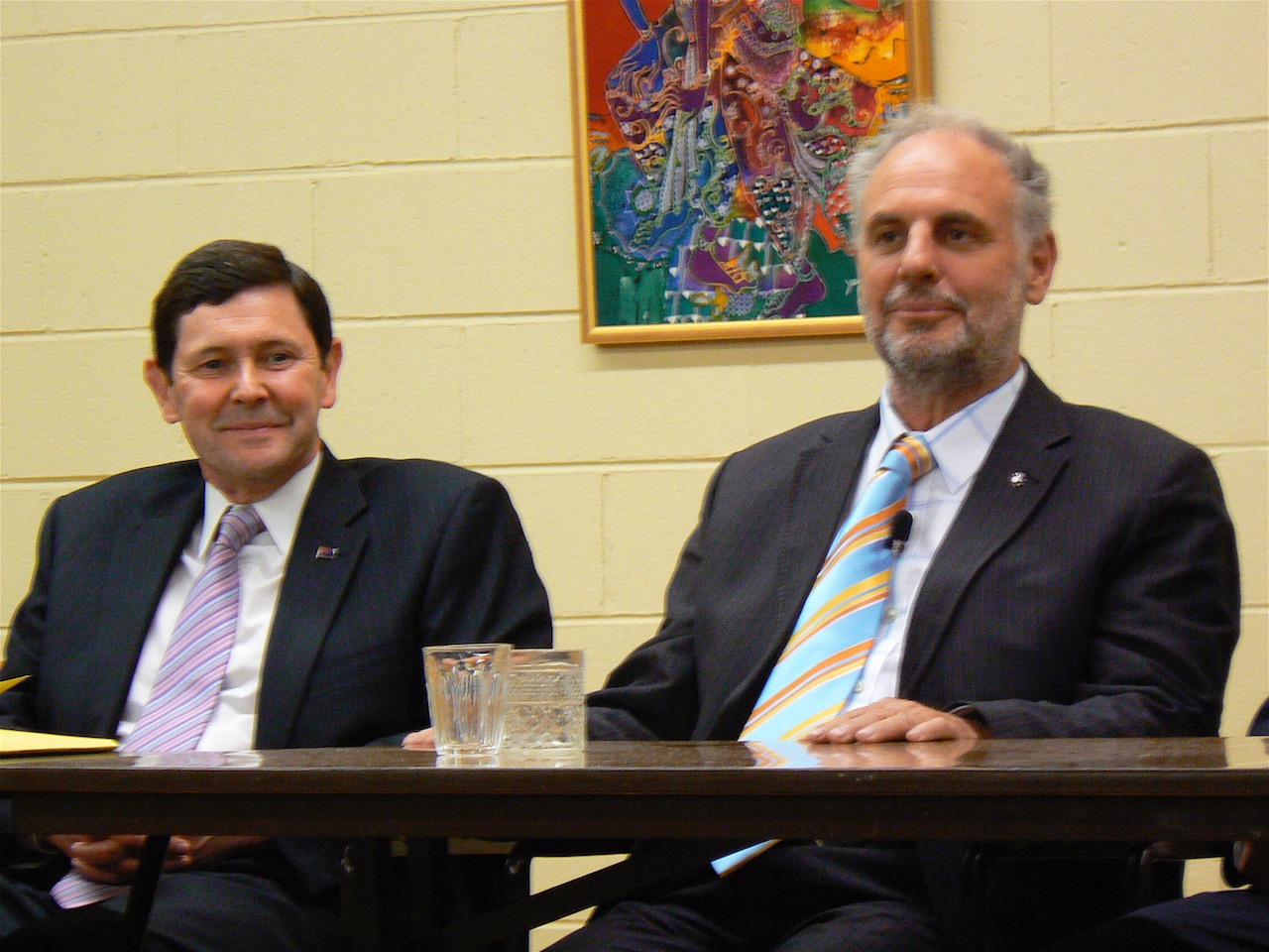 Kevin Andrews and Philip Nitschke