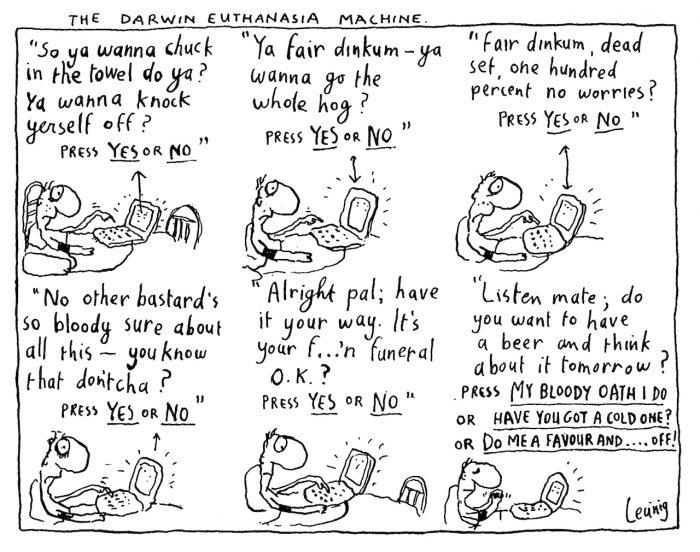 Leunig euthanasia cartoon