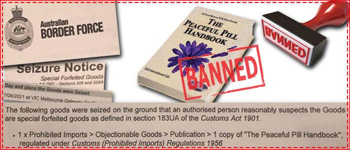 Australia Border Force Seize Peaceful Pill Handbook